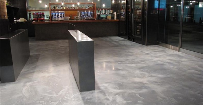 metallic floor gray tones